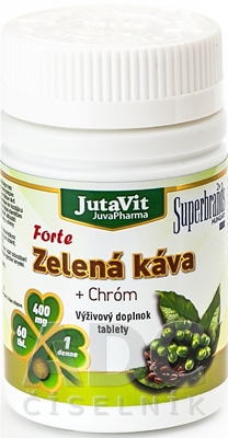 JutaVit Zelená káva Forte + Chróm