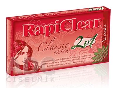 RapiClear Tehotenský test Classic extra 2v1