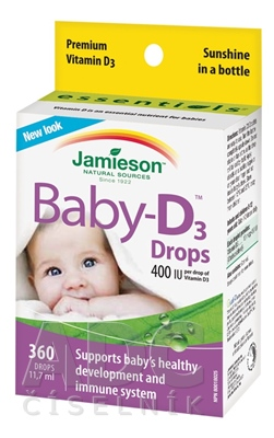 JAMIESON BABY-D3 VITAMÍN D3 400 IU KVAPKY