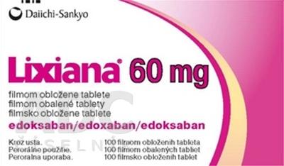 Lixiana 60 mg filmom obalené tablety