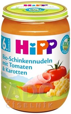 HiPP BIO Cestoviny s rajčinami, mrkvou a šunkou
