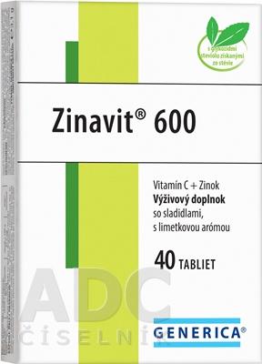 GENERICA Zinavit 600 s limetkovou arómou