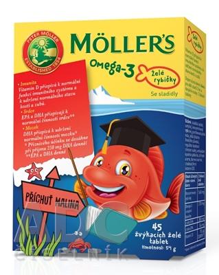 MOLLER´S Omega 3 Želé rybičky