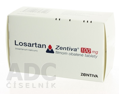 Losartan Zentiva 100 mg filmom obalené tablety