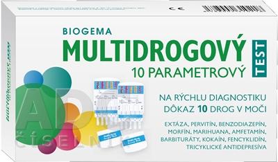BIOGEMA MULTIDROGOVÝ TEST 10 PARAMETROVÝ