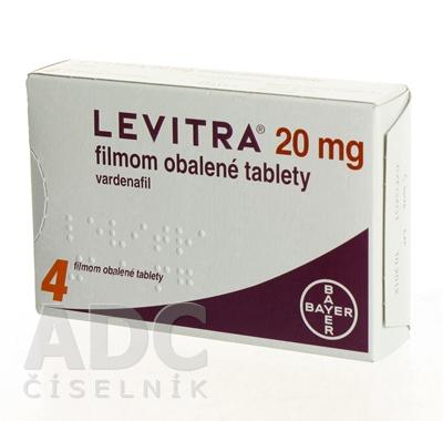 LEVITRA 20 mg filmom obalené tablety