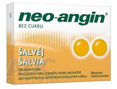 Neo-angin šalvia tvrdé pastilky