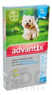 Advantix Spot-on pre psy od 4 do 10 kg