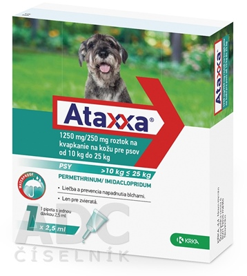 Ataxxa 1250 mg/250 mg (psy od 10 kg do 25 kg)