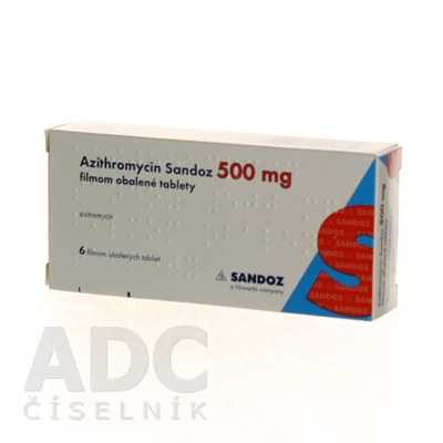 Azithromycin Sandoz 500 mg filmom obalené tablety