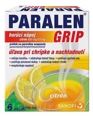 PARALEN GRIP horúci nápoj citrón 650 mg/10 mg