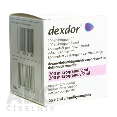 Dexdor 100 mikrogramov/ml infúzny koncentrát
