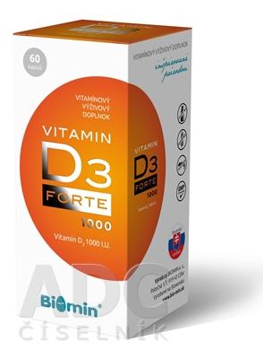 Biomin VITAMIN D3 FORTE 1000 I.U.