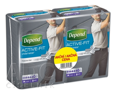 DEPEND ACTIVE-FIT M pre mužov DUOPACK