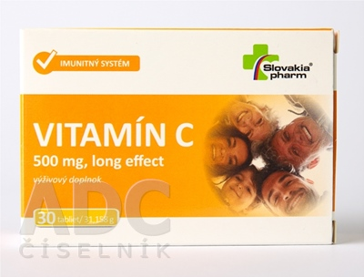 Slovakiapharm VITAMÍN C 500 mg long effect