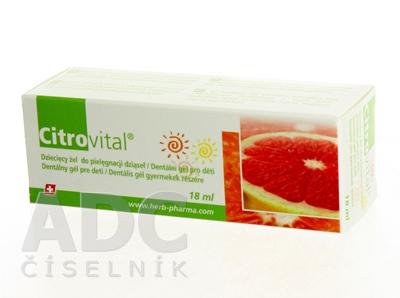 Citrovital Dentálny gél pre deti