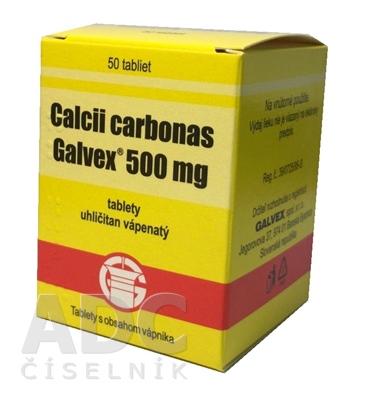 Calcii carbonas Galvex 500 mg