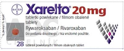Xarelto 20 mg filmom obalené tablety