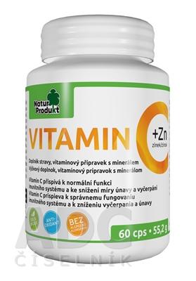NaturProdukt VITAMÍN C 500 mg + Zinok 10mg