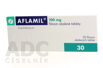 AFLAMIL 100 mg filmom obalené tablety