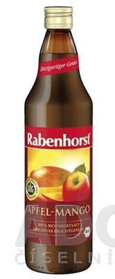 Rabenhorst Jablkovo-mangová šťava Bio