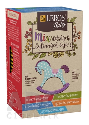 LEROS BABY MIX detských bylinných čajov