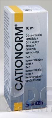 CATIONORM očná emulzná instilácia
