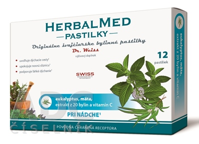 HERBALMED PASTILKY pri nádche - Dr.Weiss