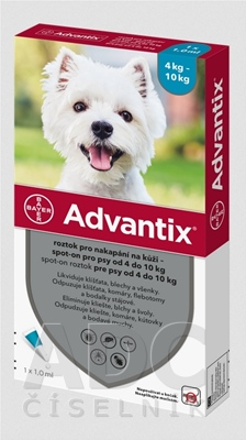 Advantix Spot-on pre psy od 4 do 10 kg
