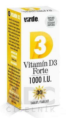 VIRDE Vitamín D3 Forte 1000 I.U.