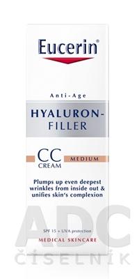 Eucerin HYALURON-FILLER CC krém stredne tmavý