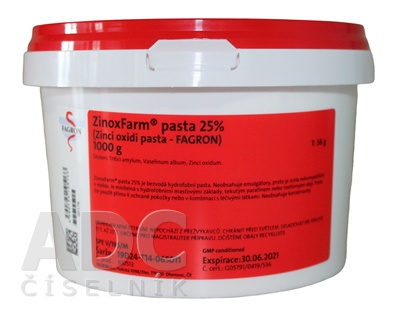 ZinoxFarm pasta 25% - Fagron