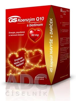 GS Koenzým Q10 60 mg s biotínom darček 2020