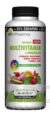 BIO Pharma Multivitamín s minerálmi IMUNITA+ FORTE