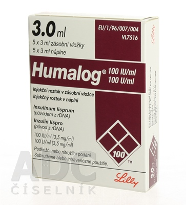 Humalog 100 U/ml, injekčný roztok v náplni