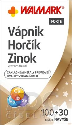 WALMARK Vápnik Horčík Zinok FORTE s vitamínom D
