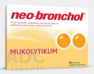 Neo-bronchol 15 mg mäkké pastilky
