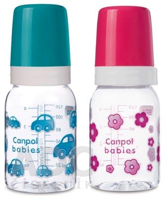 Canpol Babies Fľaša Dekor 120 ml
