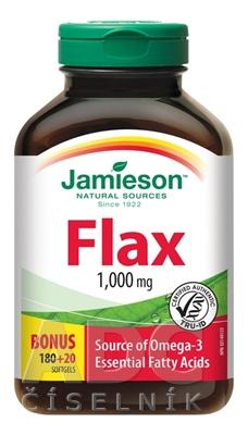 JAMIESON FLAX OMEGA-3 1000 mg ĽANOVÝ OLEJ