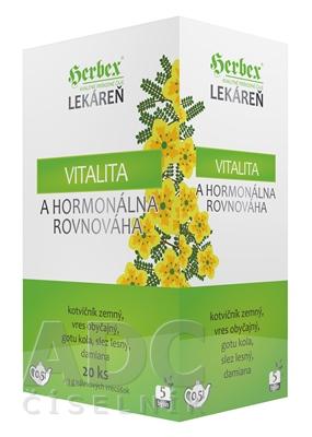 HERBEX Lekáreň VITALITA a hormonálna  rovnováha