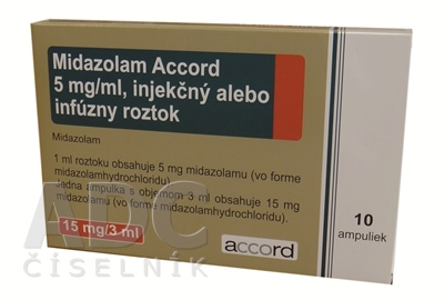 Midazolam Accord 5 mg/ml