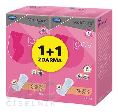 MoliCare Premium lady pad 0,5 kvapky 1+1 ZDARMA