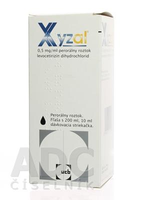 XYZAL 5 mg/10 ml perorálny roztok