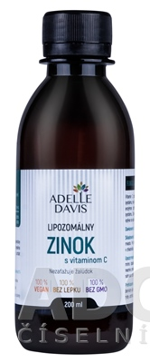 ADELLE DAVIS Lipozomálny ZINOK s vitamínom C