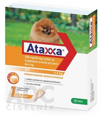 Ataxxa 200 mg/40 mg (psy do 4kg)