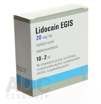 Lidocain EGIS 20 mg/ml injekčný roztok