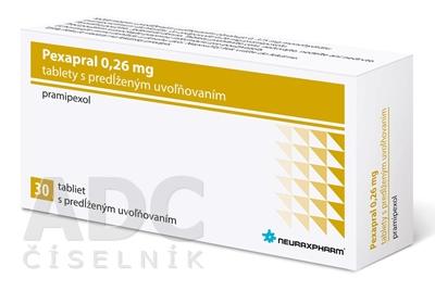 Pexapral 0,26 mg tablety s predĺženým uvoľňovaním