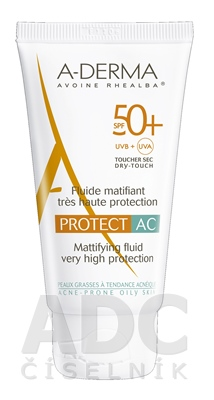 A-DERMA PROTECT AC FLUIDE MATIFIANT SPF50+