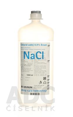 Chlorid sodný 0,9 % Braun Infúzny i.v. roztok