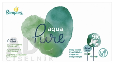 PAMPERS baby wipes PURE Aqua